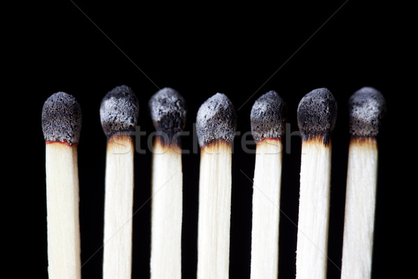 Burnt Matches, concept photography Stock photo © CrackerClips