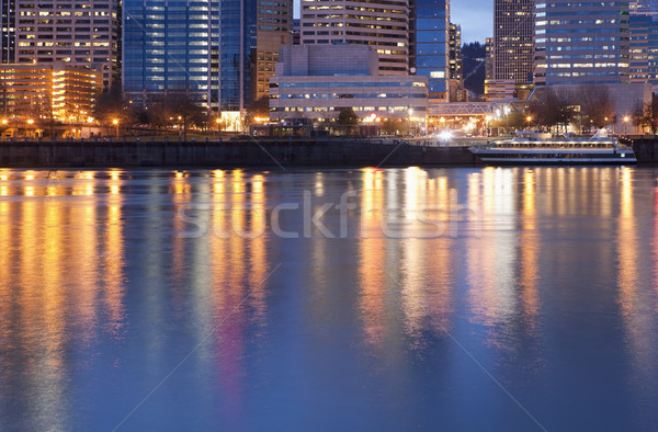 Downtown Portland, Oregon and Willamette River Stock photo © CrackerClips