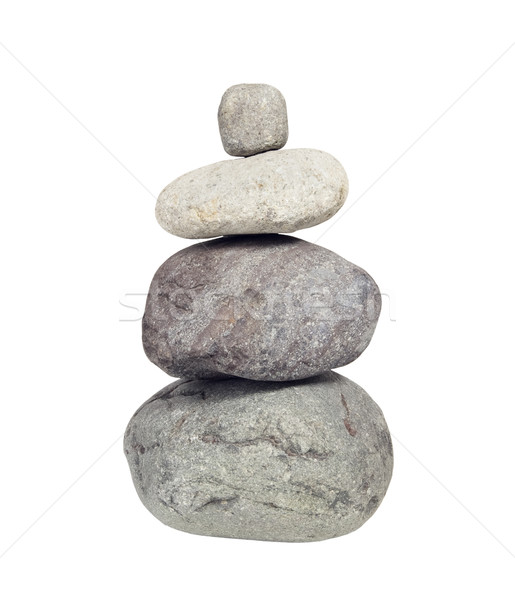 Stack of River Rocks,  Cairn - Photo Object  Stock photo © CrackerClips