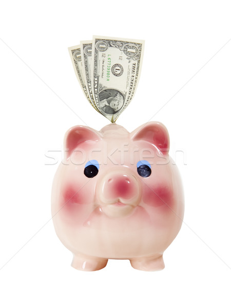 Piggy Bank with Money - Photo Object Stock photo © CrackerClips