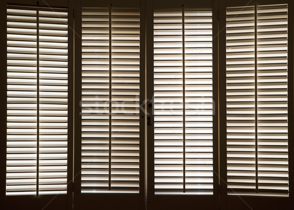 Wooden Window Shutters Stock photo © CrackerClips