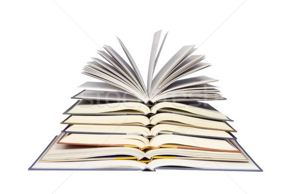 Boglya nyitva könyvek fotó tárgy vágási körvonal Stock fotó © CrackerClips