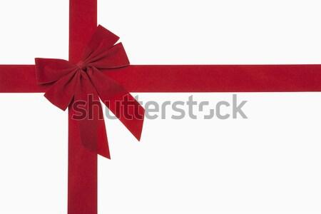 Piros karácsony íj vágási körvonal Stock fotó © CrackerClips