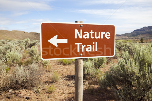 Nature Trail Sign in Remote Area Stock photo © CrackerClips