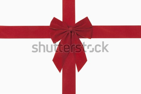 Red Christmas Bow Stock photo © CrackerClips