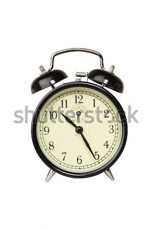 ébresztőóra fotó tárgy vágási körvonal idő fekete Stock fotó © CrackerClips