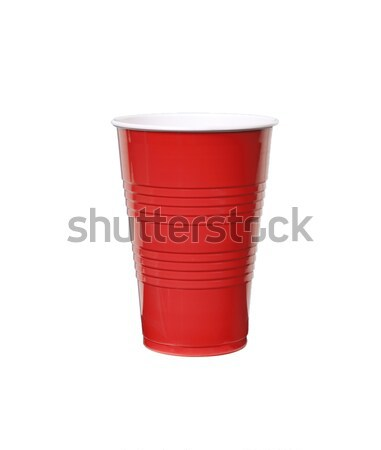Rouge plastique tasse photo objet Photo stock © CrackerClips