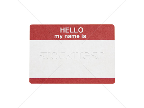 Hello My Name is Sticker - Photo Object Stock photo © CrackerClips