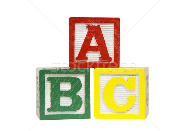 Alphabet Blocks - Photo Object Stock photo © CrackerClips