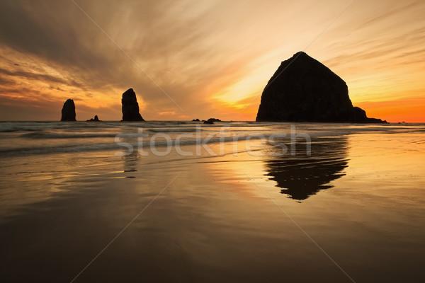 Haystack Rock Stock photo © CrackerClips