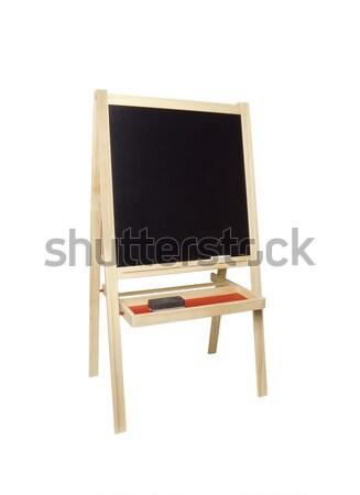 Tábla festőállvány fotó tárgy vágási körvonal fehér Stock fotó © CrackerClips