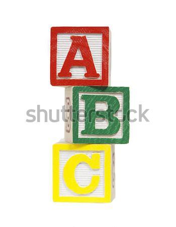 ábécé kockák fotó tárgy vágási körvonal Stock fotó © CrackerClips