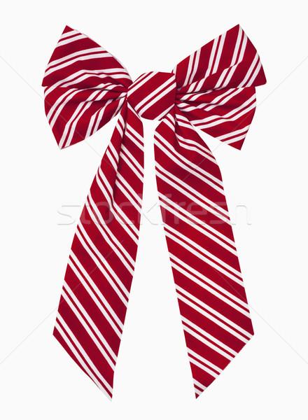 Рождества лук красный белый полосатый окна Сток-фото © CrackerClips