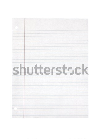 Lined Paper - Photo Object Stock photo © CrackerClips