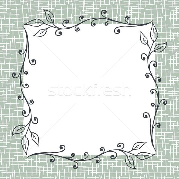Square Floral Frame Background Stock photo © creativika