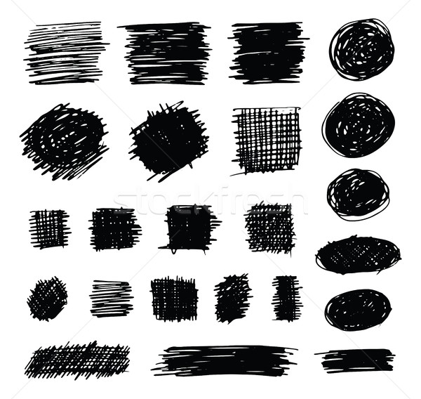 Hand Drawn Shaded Scribble Shapes Stock photo © creativika