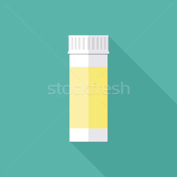 Foto d'archivio: Pillole · imballaggio · contenitore · icona · bianco · plastica