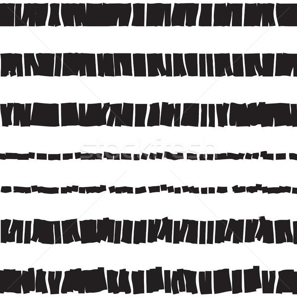 Abstrato pontilhado sem costura textura preto e branco Foto stock © creativika