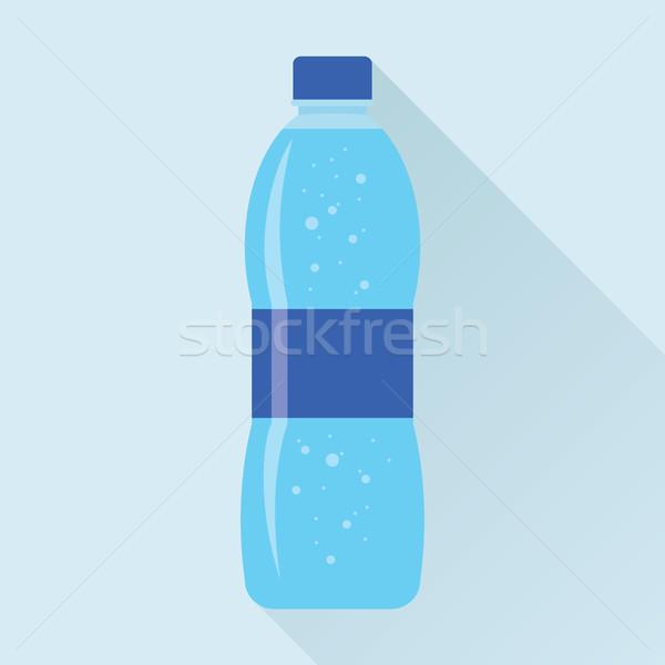 Garrafa água doce ícone plástico fresco Foto stock © creativika