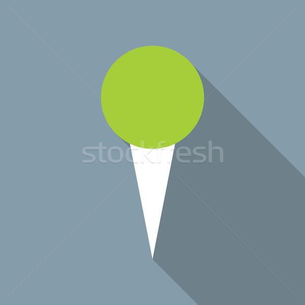 Pin vettore icona design stile lungo Foto d'archivio © creativika