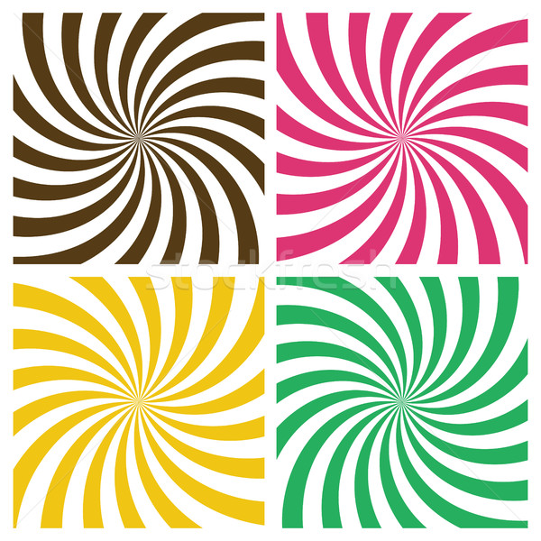 Set of Swirling Radial Backgrounds Stock photo © creativika
