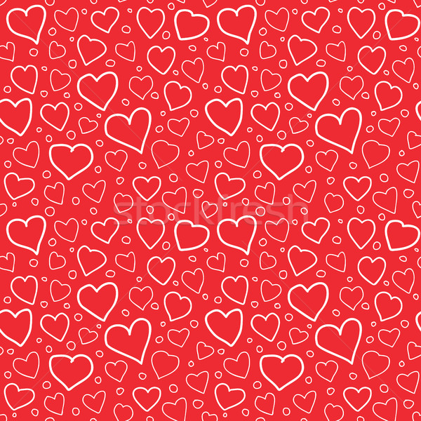 Abstract Hearts Seamless Pattern Doodle Texture Stock photo © creativika