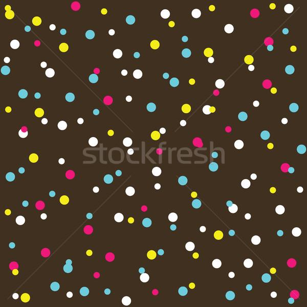 Colorato ciambella crema texture perline Foto d'archivio © creativika