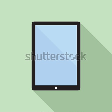 Stock photo: Tablet Computer Flat Icon