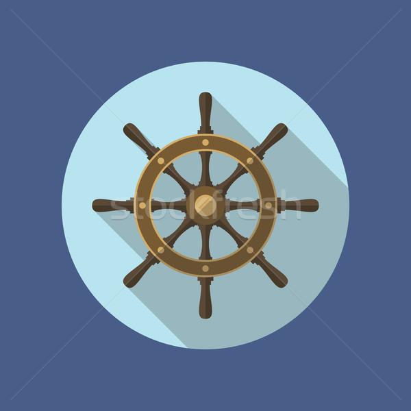 船 ベクトル アイコン デザイン ハンドル スタイル ストックフォト © creativika