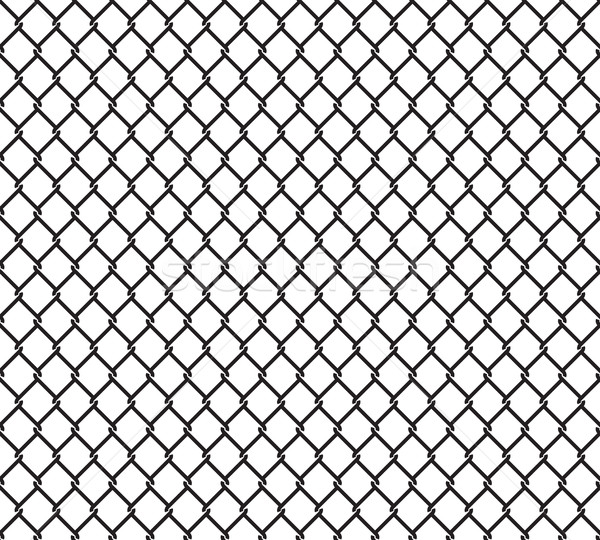 Metallic wired fence seamless pattern Stock photo © creativika