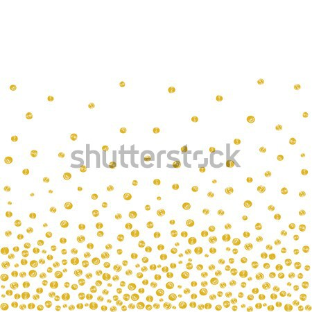Random Falling Golden Dots Background Stock photo © creativika