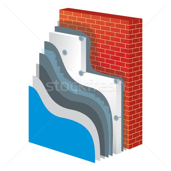 Yalıtım izolasyon duvar koruma ilke Stok fotoğraf © creativika