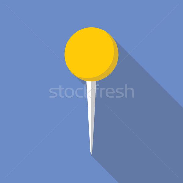 Pin Vector Flat Icon Stock photo © creativika