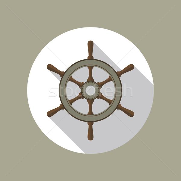 Ship Helm Vector Flat Icon Stock photo © creativika