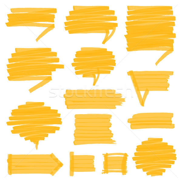 Highlighter Shaded Speech Bubbles Design Elements Stock photo © creativika