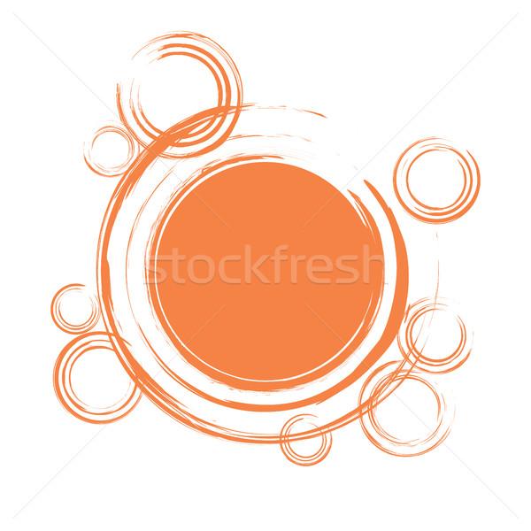 Abstract arancione eps8 formato Foto d'archivio © creativika