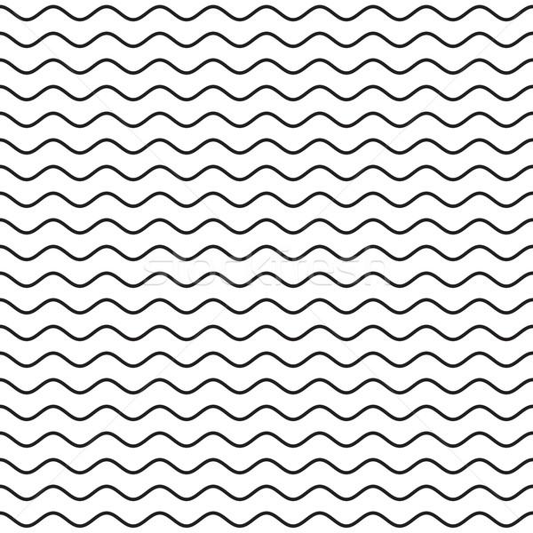 Preto ondulado linha ondas linhas Foto stock © creativika