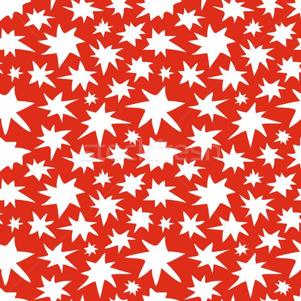 Abstract Stars Seamless Pattern Doodle Texture Stock photo © creativika