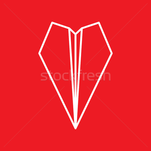 Paper Plane Thin Line Icon. Paper Origami Airplane symbol. Stock photo © creativika