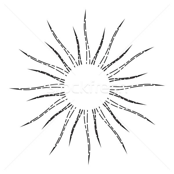 Vintage linear luz solar desenho estilo Foto stock © creativika