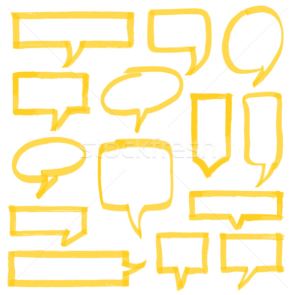 Highlighter Speech Bubbles Design Elements Stock photo © creativika