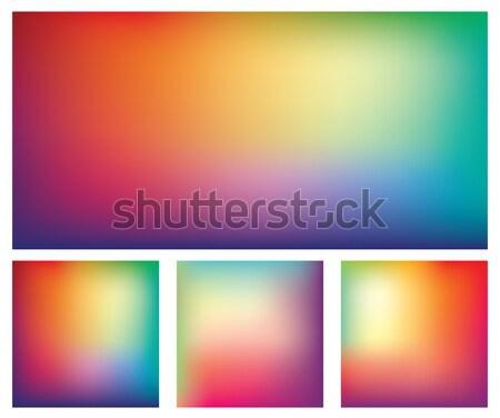 Set colorato gradiente vettore sfondi offuscata Foto d'archivio © creativika