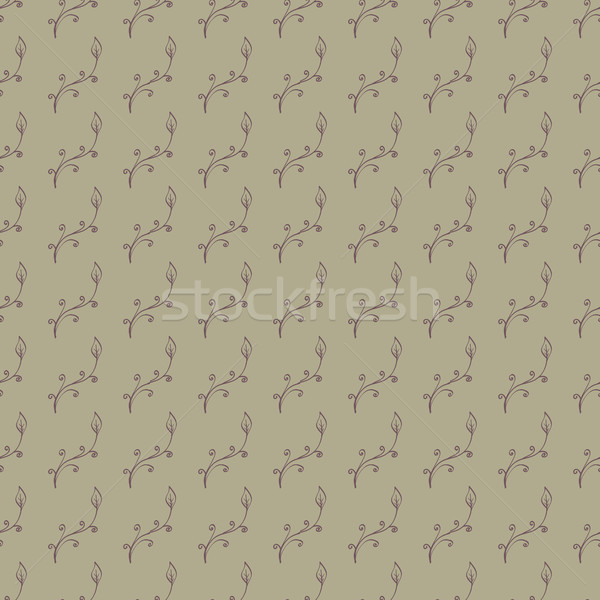 Stock photo: Hand Drawn Floral Seamless Pattern