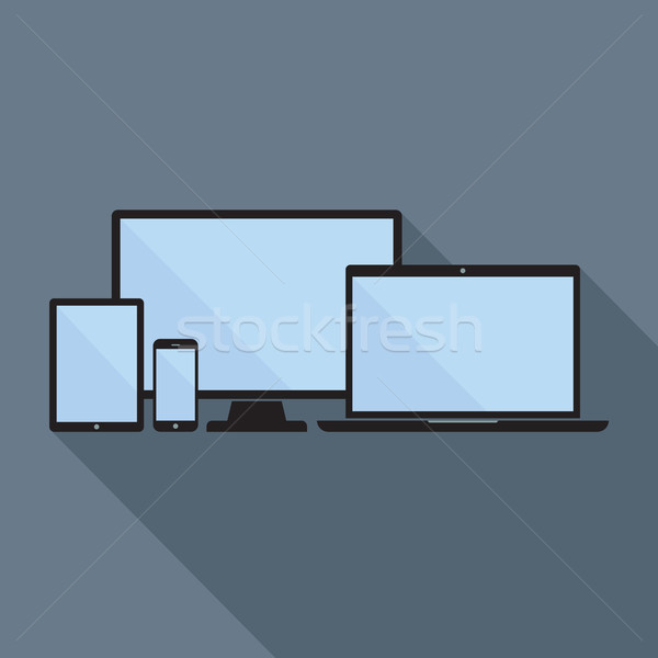 Comprimido laptop ícones Foto stock © creativika