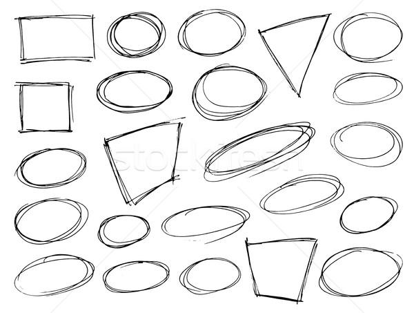 Stockfoto: Ingesteld · symbolen · geïsoleerd · witte