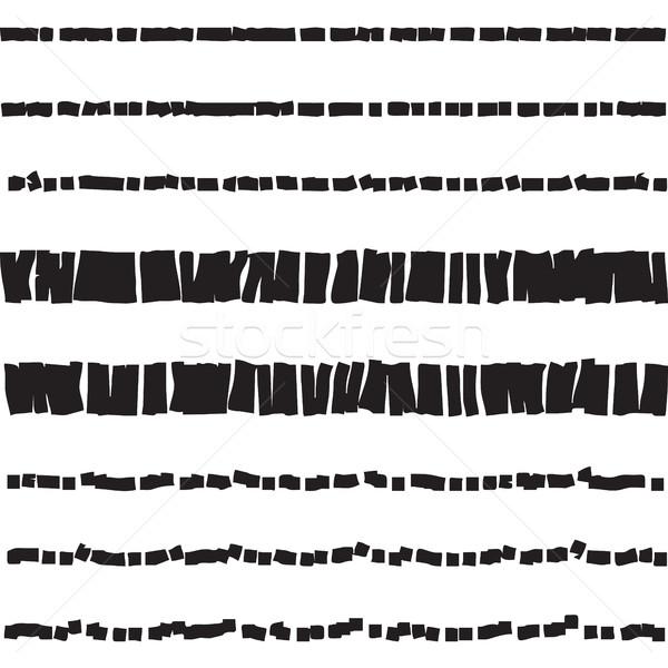 Abstract punteggiata senza soluzione di continuità texture bianco nero Foto d'archivio © creativika