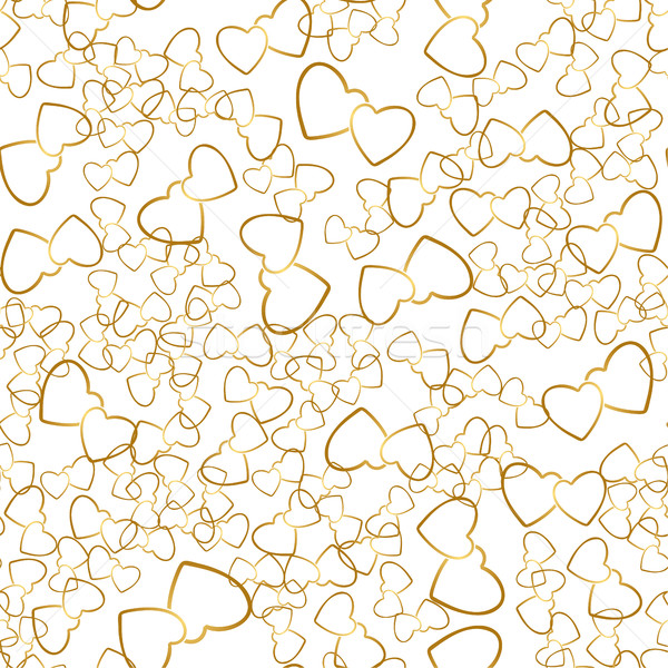 Two Hearts Seamless Pattern Romantic Wrapping Texture Stock photo © creativika