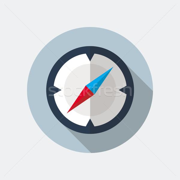 コンパス アイコン ベクトル スタイル 長い ストックフォト © creativika