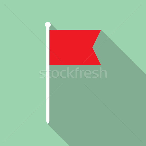 Flag Vector Flat Icon Stock photo © creativika