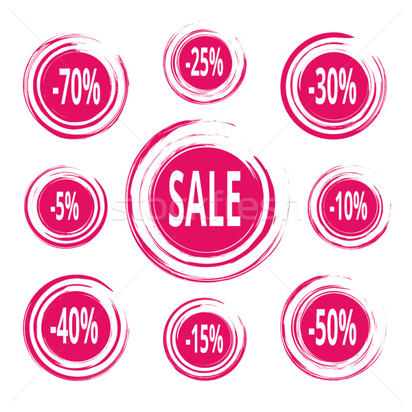 Abstract Paint Stains. Sale and Discounts Badges. Stock photo © creativika